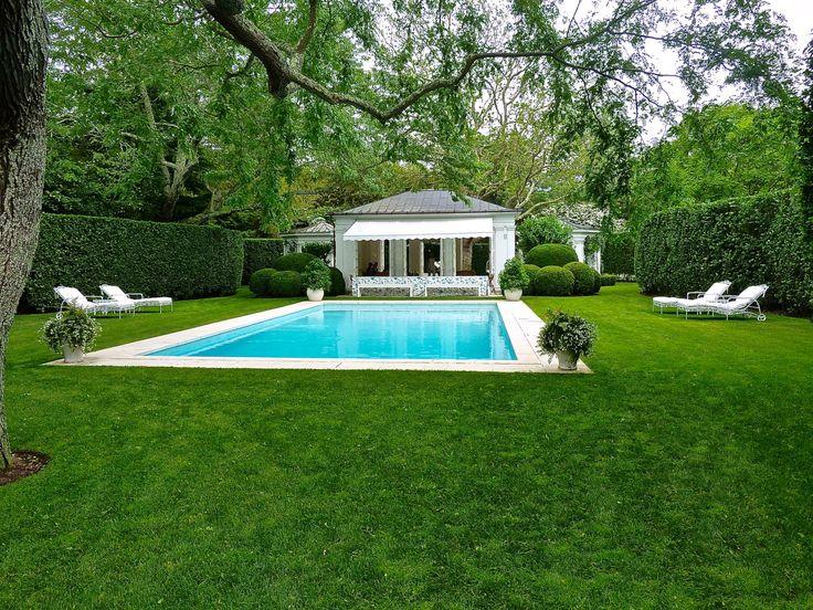 Aerin Lauder pool, Hamptons via Quintessence
