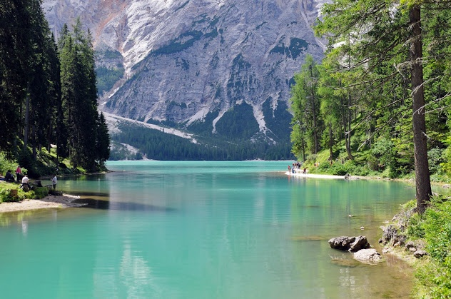 Lake Braies in Northern Italy.