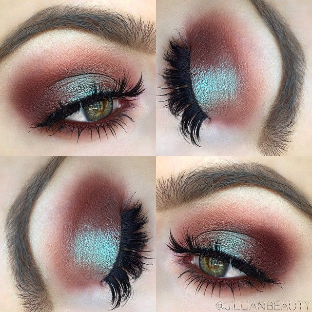 """Recreated this gorgeous look by the stunning Jaclyn Hill. I used MAC Cosmetics's Blue Brown pigment on the lid, Makeup Geek Cosmetics's Bitten and Cocoa Bear on the inner and outer corners, MAC Costa Riche eye kohl on the waterline, Koko Lashes in Risqué, and Anastasia Beverly Hills Dip Brow in Soft Brown. Obsessed with this look!!"" Photo taken by @jillianbeauty on Instagram."