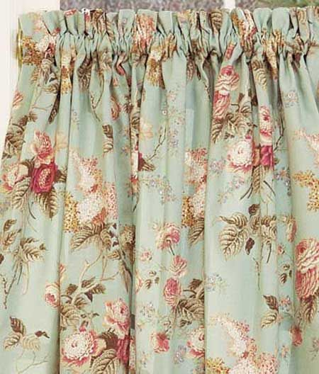 Additional Views: Laura's Garden Floral Tier Curtains