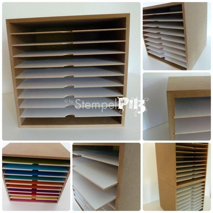 Ikea Komplement Schuhregal Weiß ~ 12 Papieraufbewahrung mit 10 Fächer für Scrapbooking und Stampin UP