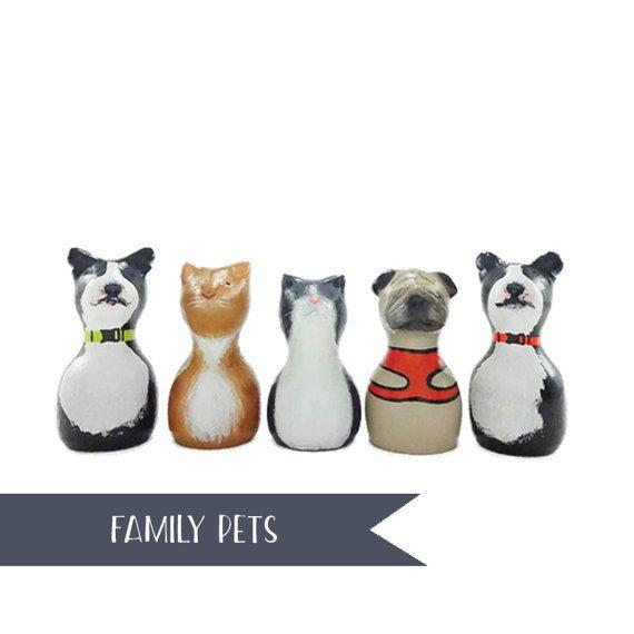 Wooden Peg Doll Pet Portrait // Pet Lover // Wooden Peg Dolls // Modern Doll House // Wooden Pegs // Family Pet Keepsake