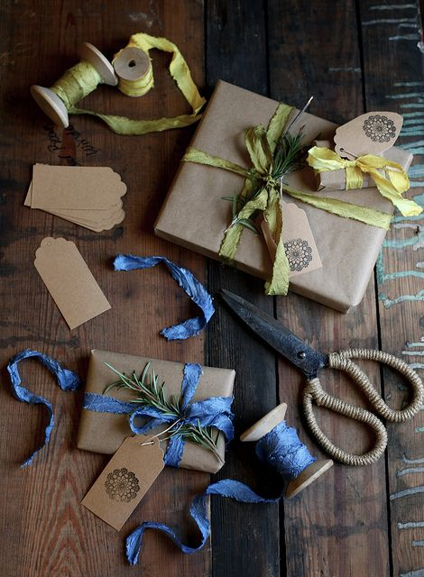 hand dyed silk ribbon by Maggie Pate