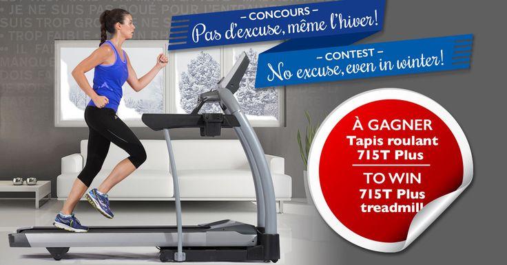 Participez au concours du 4 au 31 janvier 2016 et courez la chance de gagner un tapis roulant 715T Plus! | Enter the contest from January 4 to 31, 2016 for a chance to win a 715T Plus treadmill!
