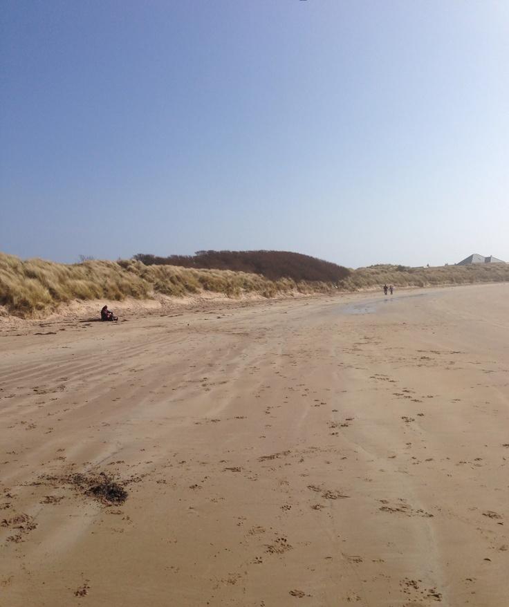 Beautiful Beadnell beach, Northumberland