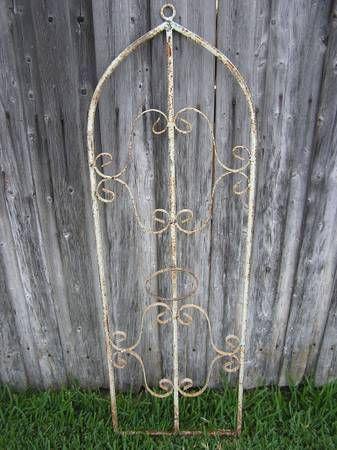 Vintage Wall Planter Trellis Wrought Iron Vintage Antique