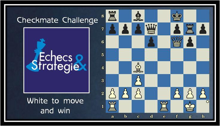 Daily chess training. White Mates in 4. Nimzowitsch vs Tartakower, Carlsbad, 1911 #echecs #chess #ajedrez #xadrez www.jouer-aux-echecs.com