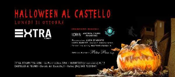 La notte di Halloween al Castello di Felino, Extra Tonight, strada del Castello 1 Parma, cena, spettacolo, magia e musica.Programma: ore 21:00 cena (menu con tortino di patate con salsa al parmigiano,