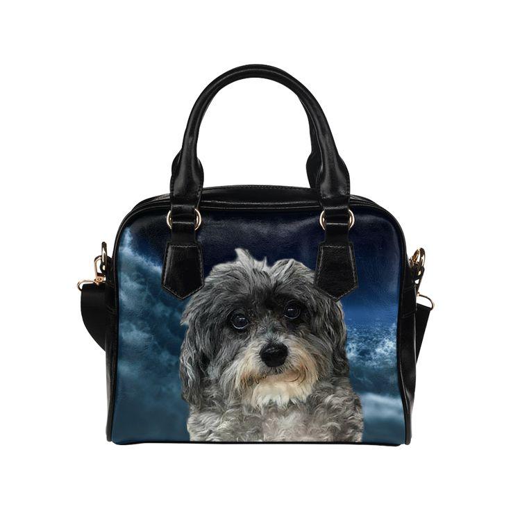 Dog Poodle Cross Shoulder Handbag. FREE Shipping. #artsadd #handbags #dogs
