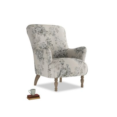 Gramps Armchair in Dusty Blue vintage rose   – Products