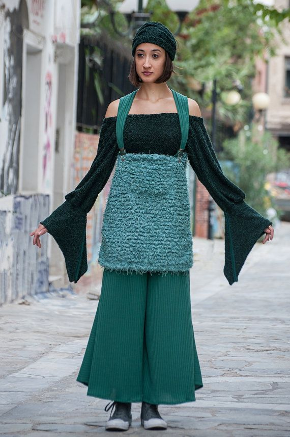 cropped flared trousers with shoulder baring by paraskeloufashion