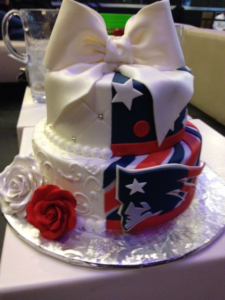 nfl new england patriots wedding cake - Google Search                                                                                                                                                      More