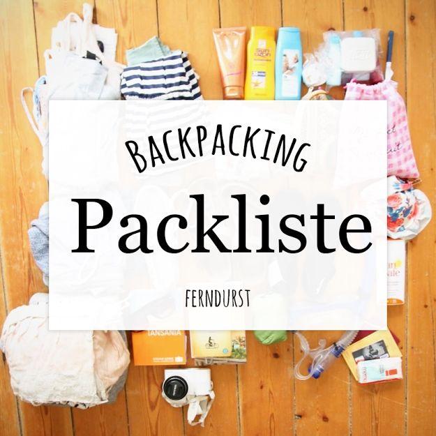 Guter Rucksack, platzsparendes Equipment, Reiseapotheke etc. Hier erfahrt ihr, was auf meiner Backpack-Packliste für Fernreisen steht.