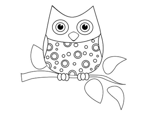 funny little owl coloring page - Printable Kid Coloring Pages
