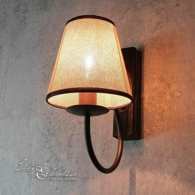 Moderne Stehlampe braun E14 LED Metall Shabby Chic Landhaus