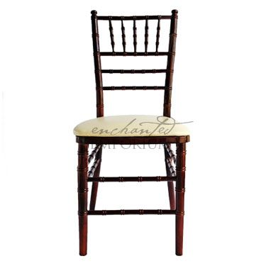 Mahogany Tiffany Chairs are a brilliant way to draw warm tones throughout your event. Available to hire in Brisbane. [sales@enchantedemporium.com.au]