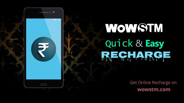 Quick and easy recharge your mobile via wowstm.com. #quickrecharge, #onlinerecharge, #phonerecharge, #mobileonlinerecharge, #easyrecharge, #rechargeonline