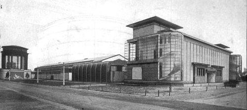 12. Gropius i Mayer, fàbrica model per a l'Exposició Werkbund, Colònia, 1914