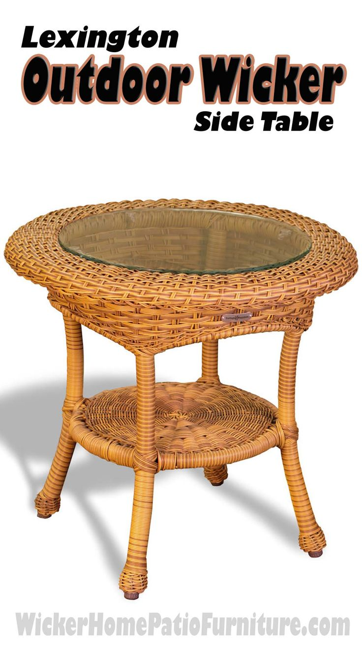 Lexington Outdoor Wicker Side Table Classic Parlor Styling Arrives Outdoors  With The Side Tableu0027s Versatile Sizing