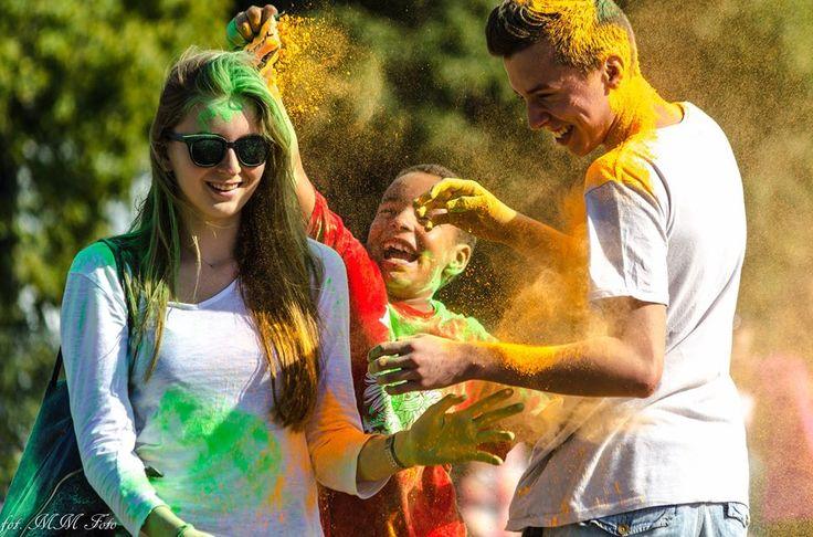 #Festival of #colours in #Gdansk / #colorful #party #ilovegdn #people / photo: Maciej Marszałkowicz