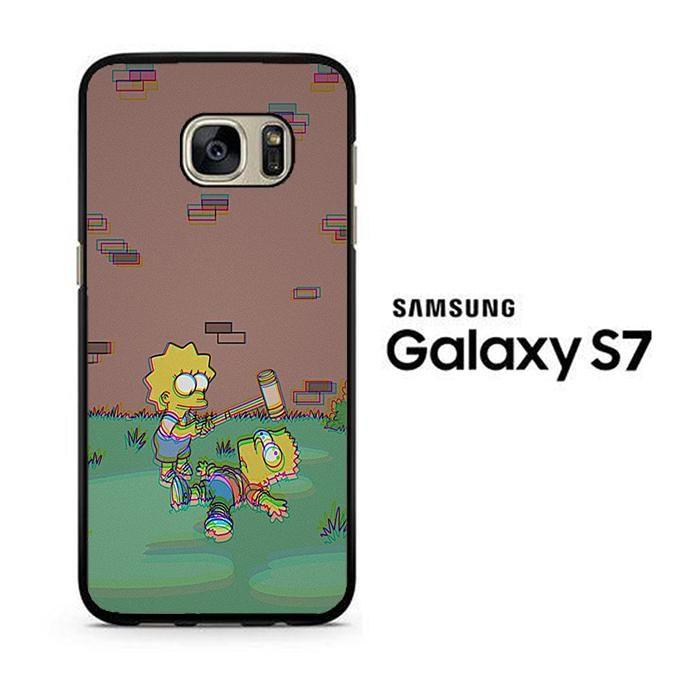 Simpson Face 009 Samsung Galaxy S7 Case Fundas Para Teléfono Fundas Samsung