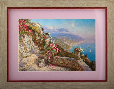 Coricamo - Silk ribbon embroidery, Stužková výšivka, Bändchenstickerei, landscapes