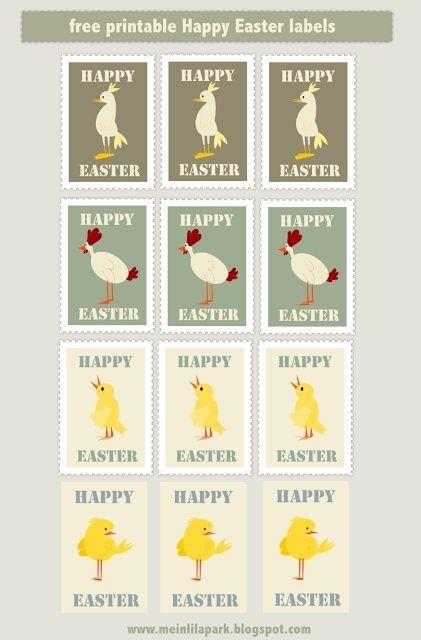 free printable Happy Easter tags AND scrap stamp png's –  es – #Easter #es…