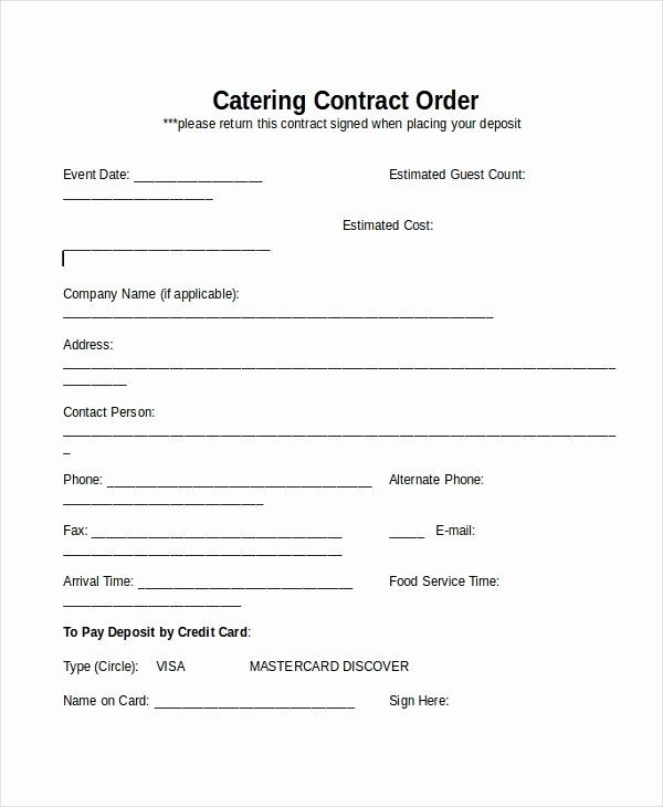 Contract For Catering Services Template Beautiful 28 Contract Templates Free Sample Example Format Contract Template Catering Services Catering