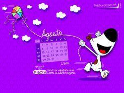 Calendario Agosto 2016-Andy © ZEA www.tarjetaszea.com