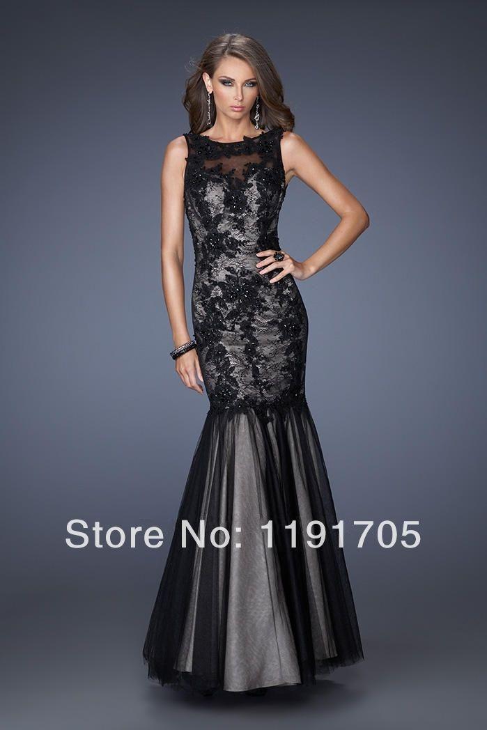 Plain Black Prom Dresses 2014