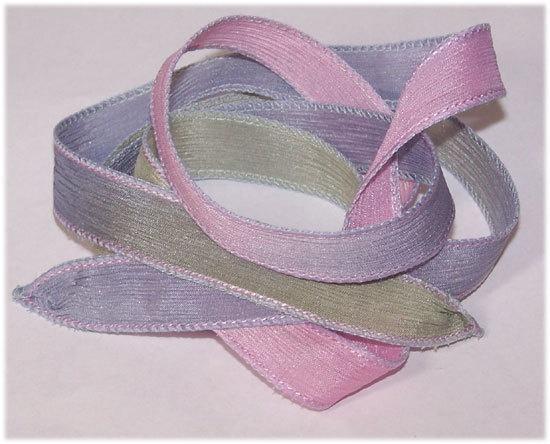 Wrist Wrap Silk Ribbon Secrets Hand Painted Silk by sassysilks21, $2.75Silk Ribbon