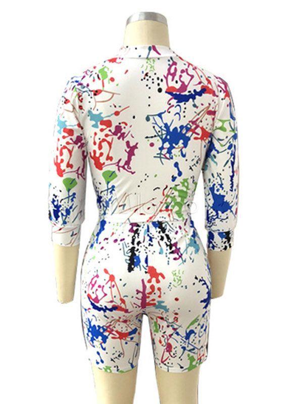 Biker Shorts Outfit Tie Dye Half Zip Sweatshirt With Cycling Shorts #Sponsored #...