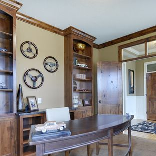 Craftsman Masculine Home Office Home Office Design Ideas, Pictures, Remodel and Decor