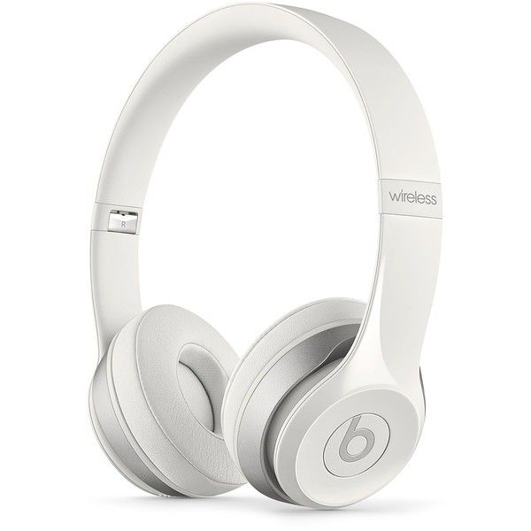Beats by Dr. Dre Solo2 Wireless Headphones ($300) ❤ liked on Polyvore featuring accessories, headphones, electronics, white and beats by dr. dre