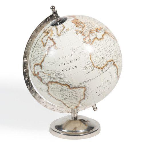 Globe beige H 29 cm  pour la déco...