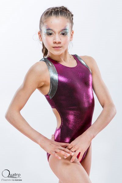 Racer open back strappy leotard by Quatro
