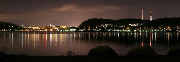 Night lights in Lahti