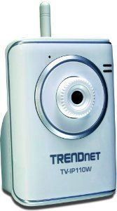 TRENDnet SecurView Wireless Internet Surveillance Camera TV-IP110W (Silver) by TRENDnet. $74.99. From the Manufacturer                 Compare All TrendNet SecurView Internet Cameras TRENDnet SecurView Wireless Internet Surveillance Camera TV-IP110W transmits real-time high quality video over the Internet. View your camera from any Internet connection. Complimentary SecurView camera management software provides advanced monitoring of up to 16 cameras to protect what...