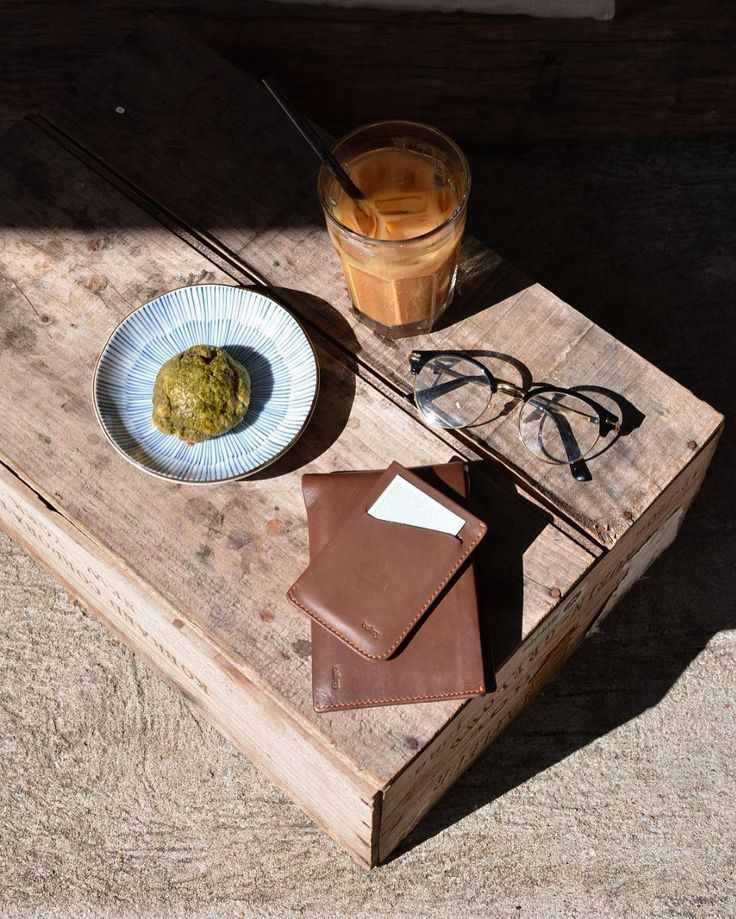 Super dense matcha scone anyone?! Digging this pic of our Travel Wallet and Card…