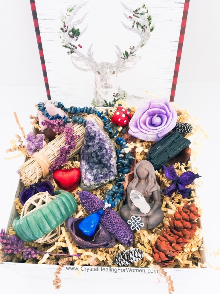 Beautiful Crystal Gift Box, Filled With Crystals, Chocolates and More!