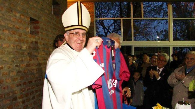 Pope Francis local team in Argentina of which he is a patron and was a season ticket holder.