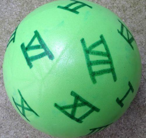 Jeu de ballon pour apprendre les chiffres romains