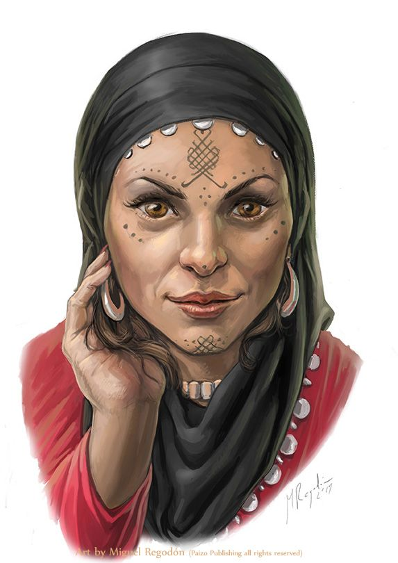 "Naheeba from Paizo's Pathfinder Adventure Path, ""The Mummy's Mask."" Art by Miguel Regodon."