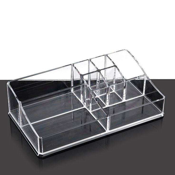 Акриловые косметические организатор ясно макияж ящик для хранения ювелирных дисплей Box акриловые чехол подставка стойки держатель организатор коробки
