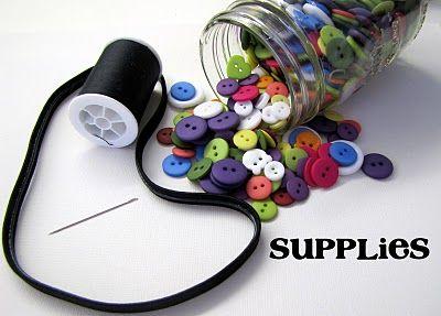 Sew a Button Headband Tutorial - craft - Little Miss Momma