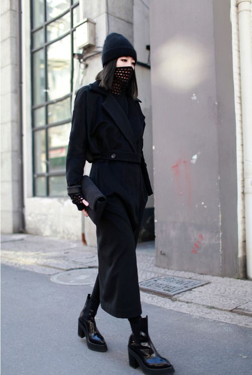Love this hat and mask combo for cold weather. Functioning fashion.