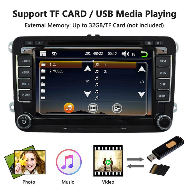 """Universal Car 7"""" 1080P HD DVD Player Bluetooth GPS Sales Online europe - Tomtop"""
