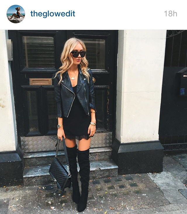Love how the glow edit styled over the knee boots