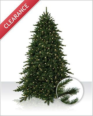 The Alaskan Grand Fir Christmas tree has over 3,200 tips of different needle varieties to resemble evergreens found in nature.