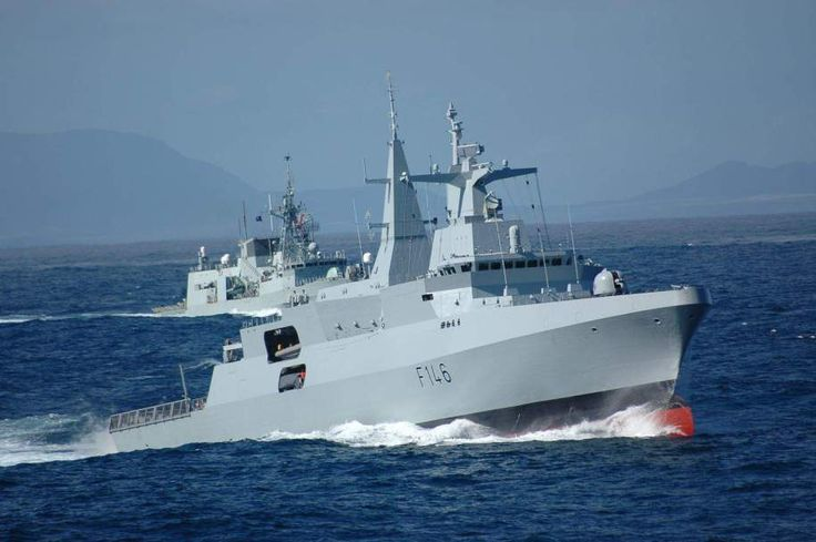 The South African Valour-class frigates are the major surface ships of the South African Navy. Their German manufacturer designates these warships as the MEKO A-200SAN type, member of its MEKO fami…